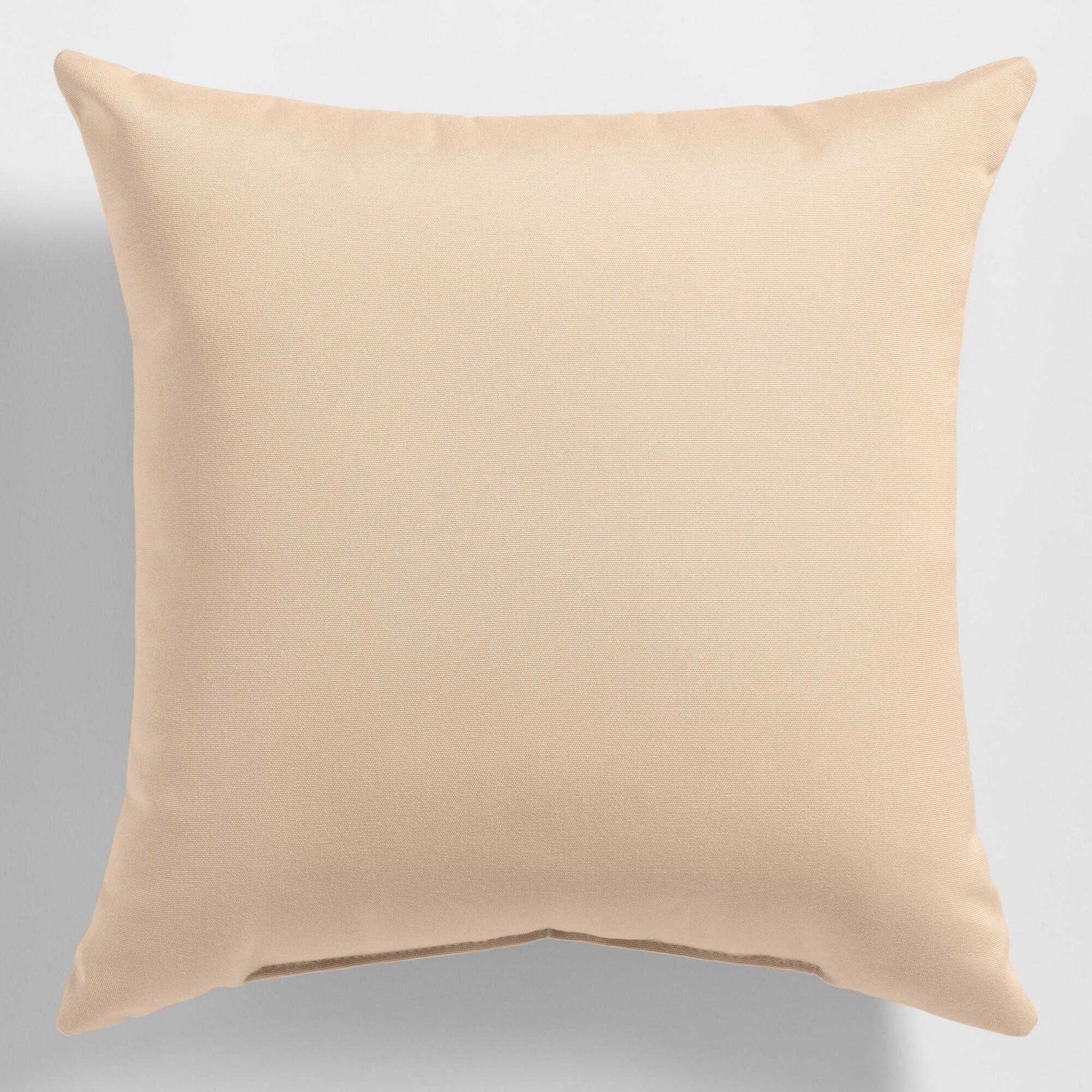 Sunbrella Beige Canvas Outdoor Throw Pillow World Market