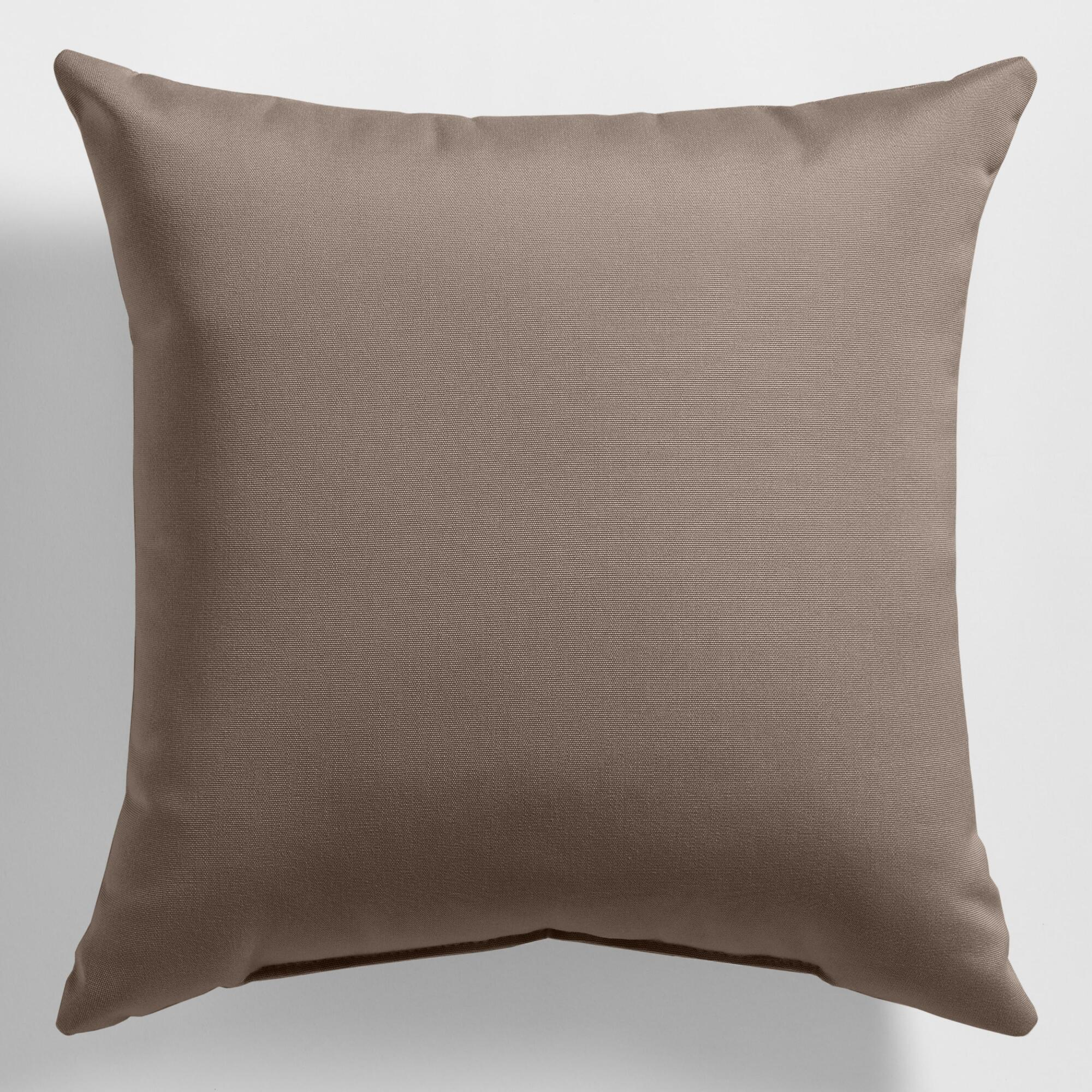 Throw Pillows Taupe : Sunbrella Taupe Canvas Outdoor Throw Pillow World Market