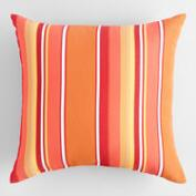 Sunbrella Mango Dolce Stripe Outdoor Throw Pillow