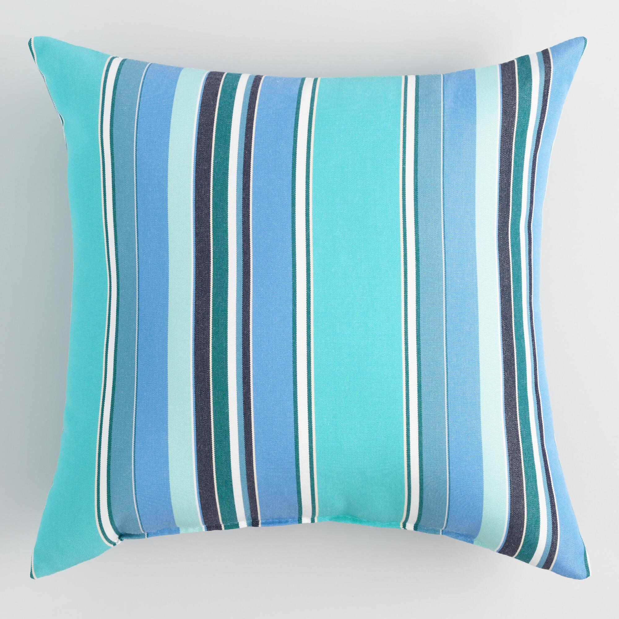 Decorative Pillows With Stripes : Sunbrella Oasis Dolce Stripe Outdoor Throw Pillow World Market