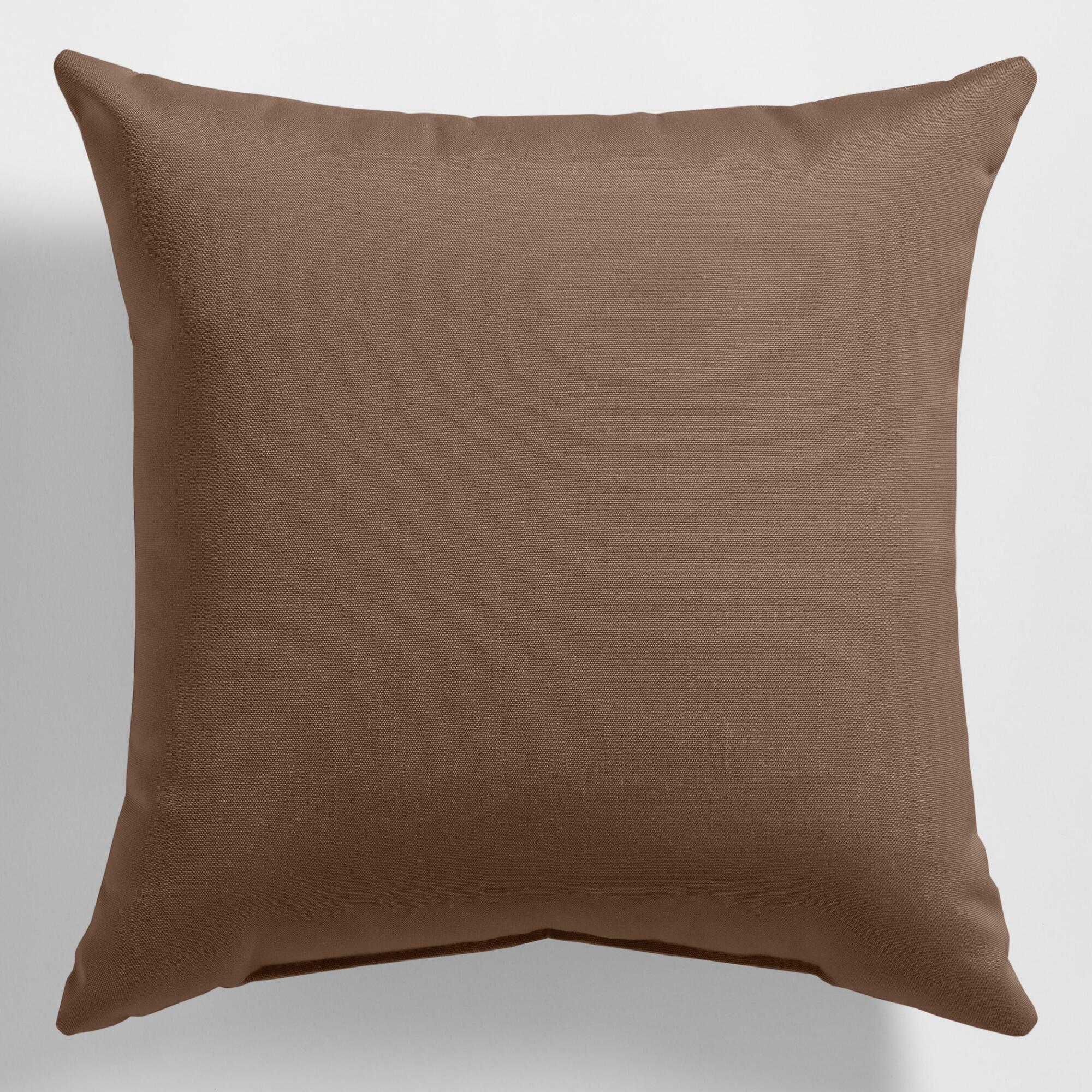 Sunbrella Chestnut Canvas Outdoor Throw Pillow World Market