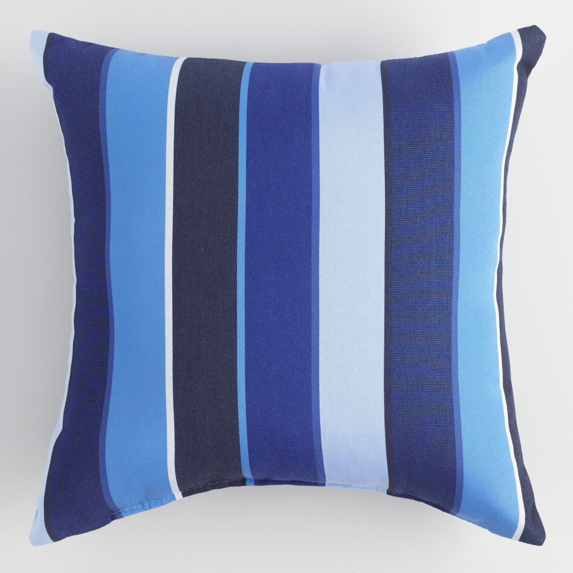Sunbrella Cobalt Blue Milano Outdoor Throw Pillow World