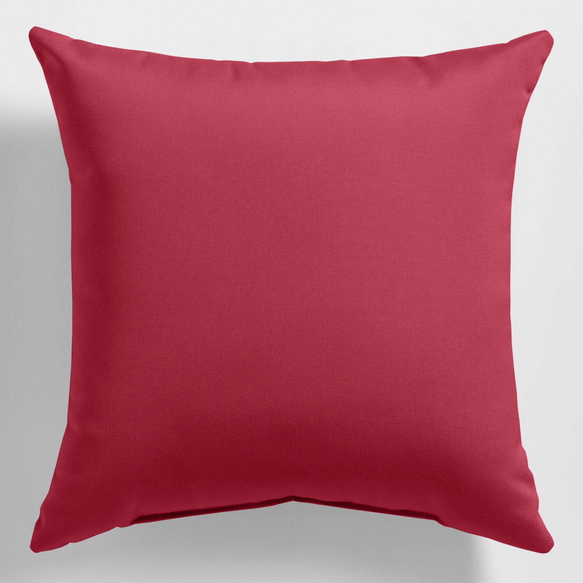 Blush Pink Decorative Pillow : Sunbrella Blush Pink Canvas Outdoor Throw Pillow World Market