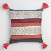Indigo Stonewash Stripe Throw Pillow