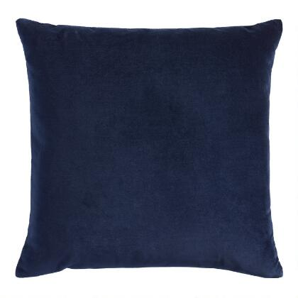 Navy Blue Velvet Throw Pillow