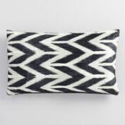 Abstract Chevron Velvet Lumbar Pillow