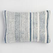 Patchwork Stonewashed Dhurrie Lumbar Pillow