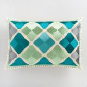 Cool Diamond Embroidered Lumbar Pillow