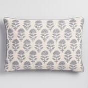 Silver Samode Embroidered Lumbar Pillow