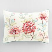 Agapanthus Embroidered Lumbar Pillow