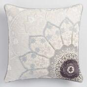 Gray Starburst Throw Pillow