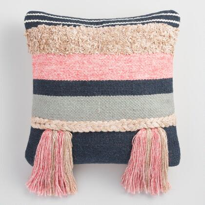 Boho Tassel Throw Pillow