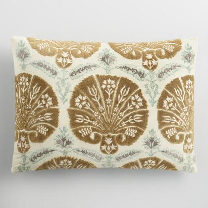 Bhuti Embroidered Lumbar Pillow