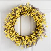 Yellow Faux Forsythia Wreath