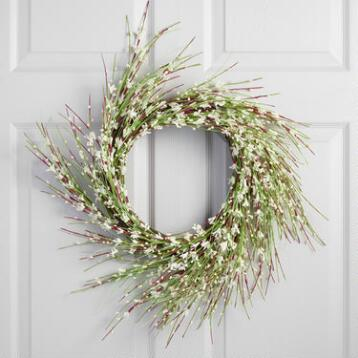 White Faux Floral Wreath