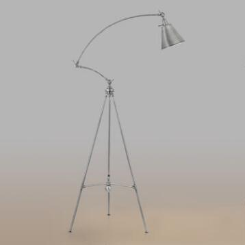 Antique Silver Tripod Harper Floor Lamp