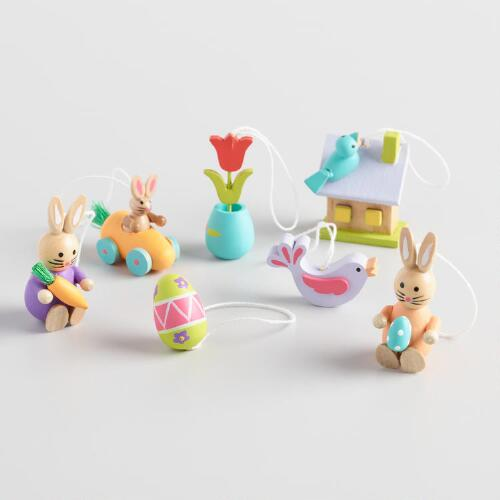 Wood Mini Easter Ornaments