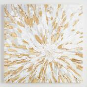 Gold Leaf White Floral by Joasia Pawlak