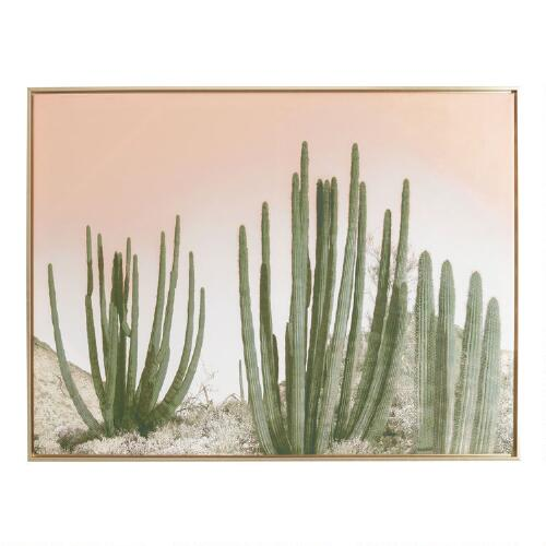 Cactus with Gold Frame