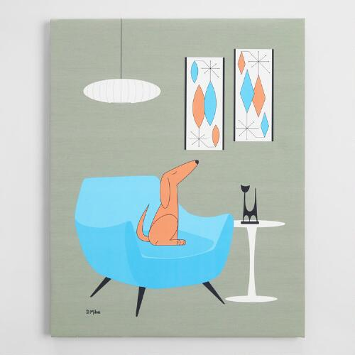 Mid Century Dog by Donna Mibus