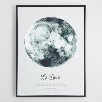 La Luna by Ilona Paliukiene with Black Frame