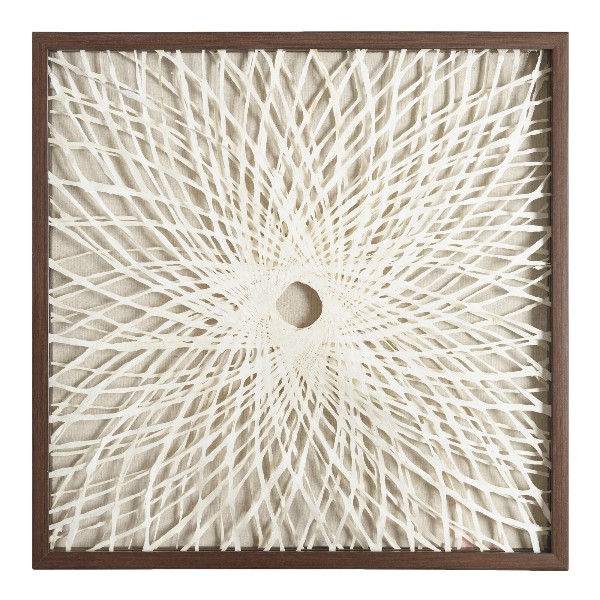 Rice paper spiral shadowbox wall art world market for White wall art
