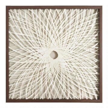 Rice Paper Spiral Shadowbox Wall Art