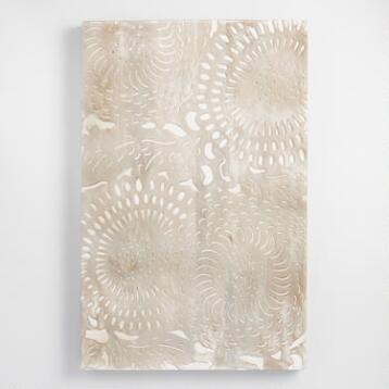 Carved Wood Dahlia Panel