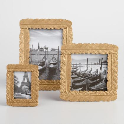 Gold Feather Tabletop Frames