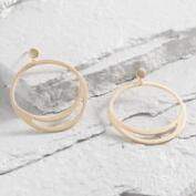Gold Front Facing Hoop Earrings
