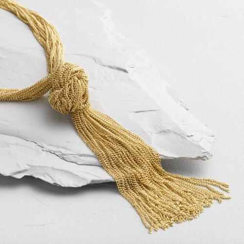 Gold Chain Knot Necklace