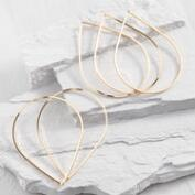 Gold Teardrop Bangle Bracelets Set of 5