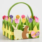 Large Bunny Felt Easter Basket