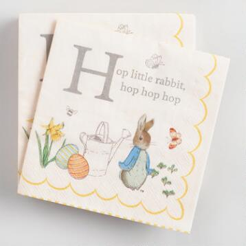 Peter Rabbit Beverage Napkins Set of 2