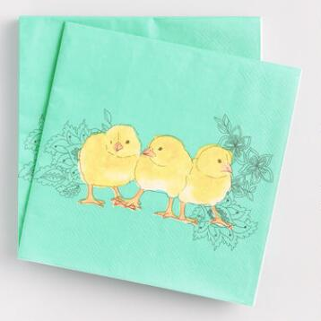 Easter Chicks Lunch Napkins Set of 2