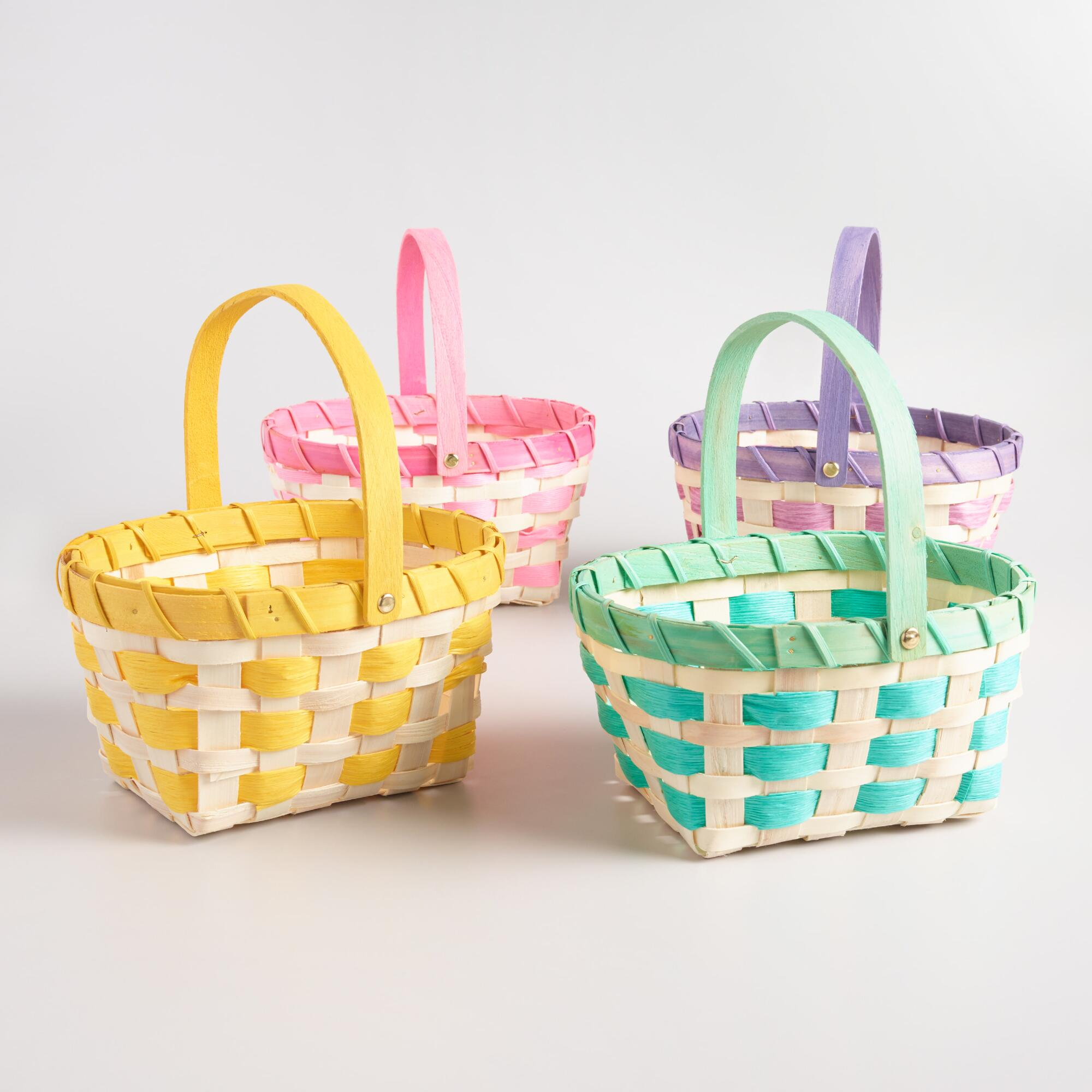 Large Rope Easter Baskets Set of 4 | World Market