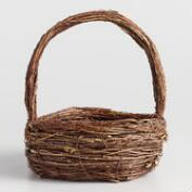 Large Natural Twig Basket