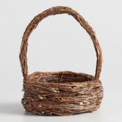 Small Natural Twig Basket
