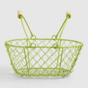 Green Mini Wire Baskets Set of 2