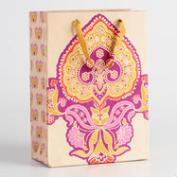 Large Priti Border Handmade Paper Gift Bags Set of 2