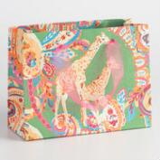 Small Giraffe Handmade Paper Gift Bags Set of 2