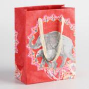 Small Elephant Handmade Paper Gift Bags Set of 2