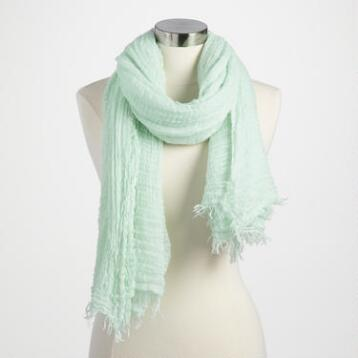 Oversized Soft Mint Scarf
