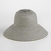 Black and White Stripe Bucket Hat