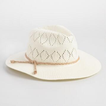 Ivory Crochet Rancher Hat