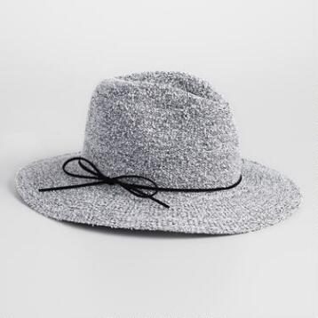 Light Gray Boucle Rancher Hat