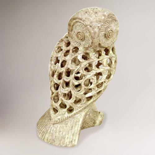 Novica Mother Owl Sculpture