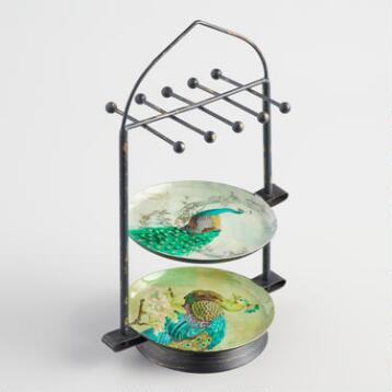 Peacock Swivel Jewelry Stand