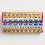 Yellow Geometric Leather Wallet