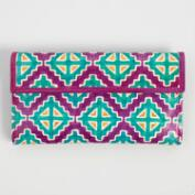 Pink Geometric Leather Wallet